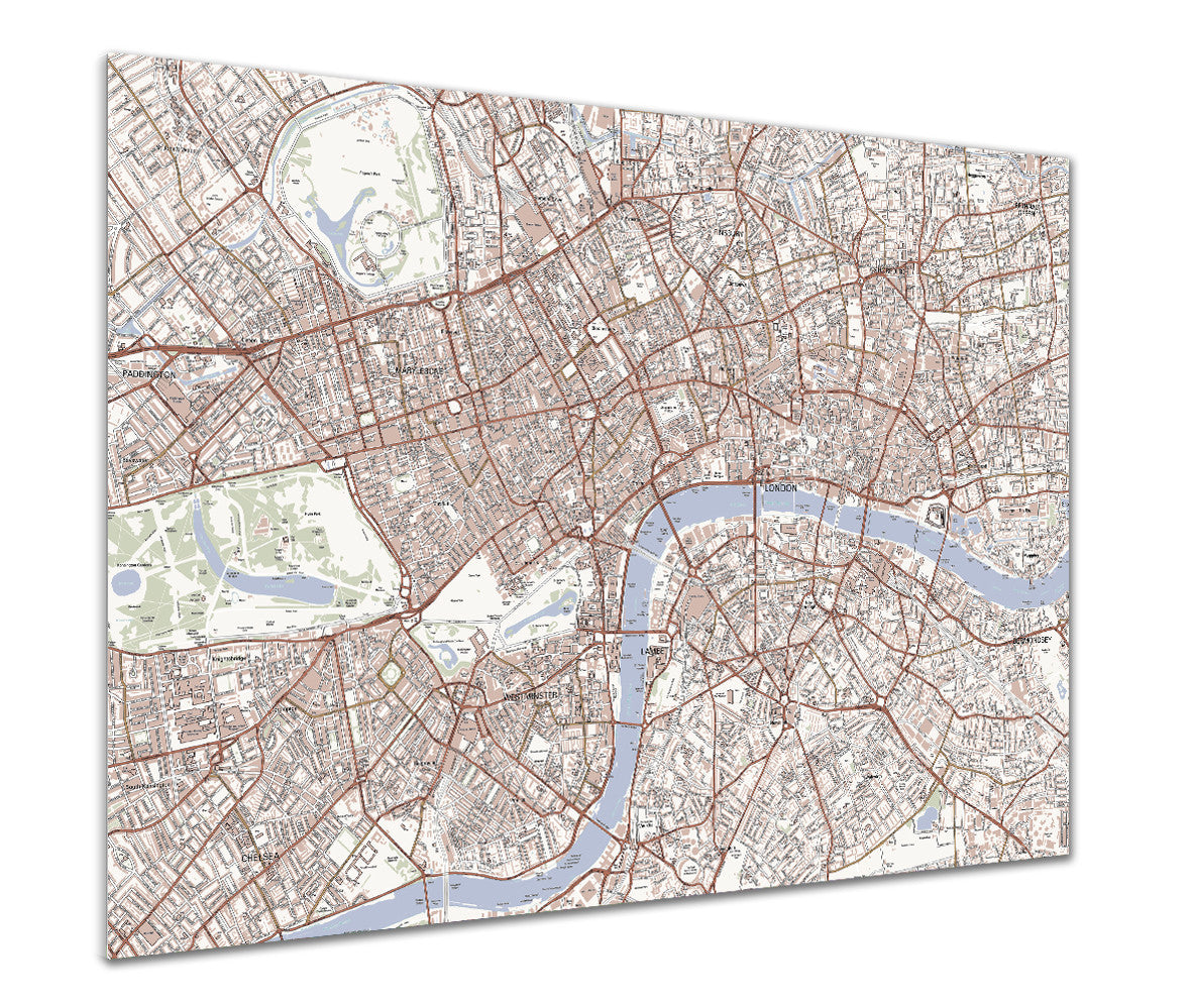 map poster london streetmap classic love maps on