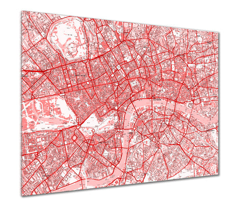 Map Poster - London Streetmap - Red