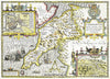 Map Canvas - Vintage County Map - Caernarvonshire - Love Maps On... - 2