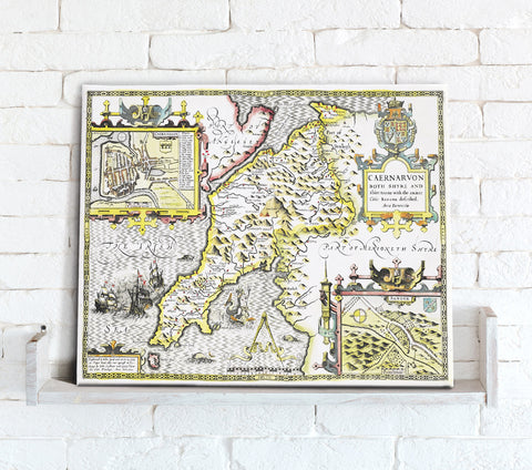 Map Canvas - Vintage County Map - Caernarvonshire