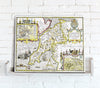 Map Canvas - Vintage County Map - Caernarvonshire - Love Maps On...