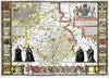 Map Canvas - Vintage County Map - Cambridgeshire - Love Maps On...