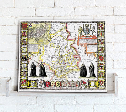 Map Canvas - Vintage County Map - Cambridgeshire