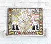 Map Canvas - Vintage County Map - Cambridgeshire - Love Maps On... - 1