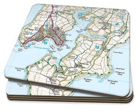 Map Coasters - Personalised Ordnance Survey Explorer Map