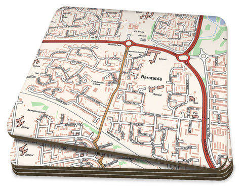 Map Coasters - Personalised Ordnance Survey Street Map