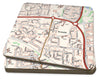 Map Coasters - Personalised Ordnance Survey Street Map - Love Maps On...