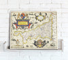 Map Canvas - Vintage County Map - Cornwall - Love Maps On...