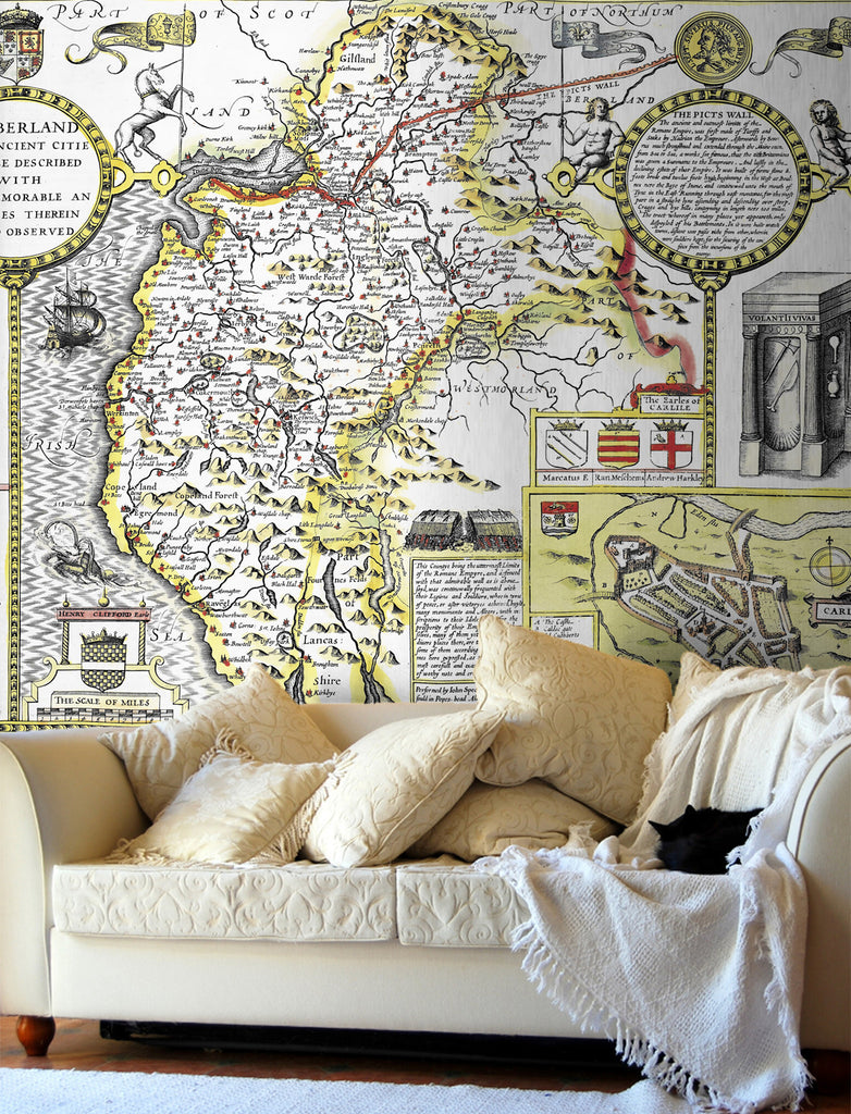 Map Wallpaper - Vintage County Map - Cumberland - Love Maps On... - 1