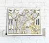 Map Canvas - Vintage County Map - Cumberland - Love Maps On...
