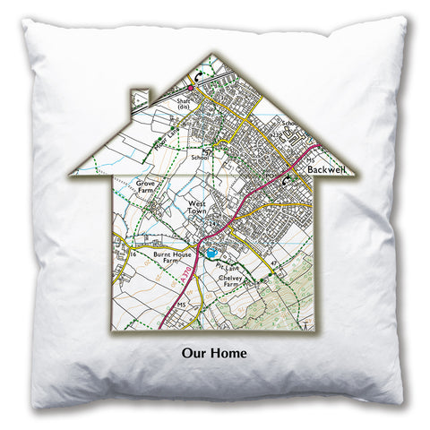 Personalised House Map Cushion