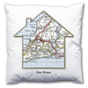 Personalised House Map Cushion - Love Maps On... - 2
