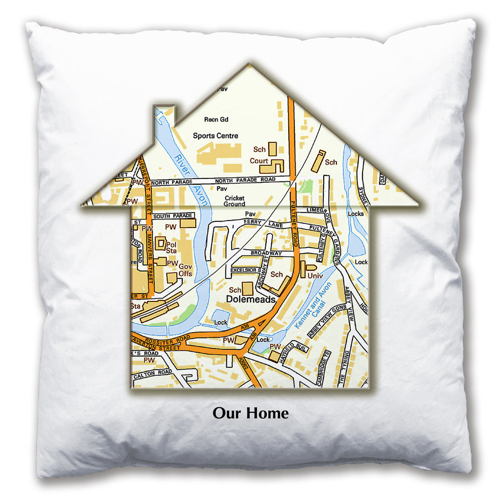 Personalised House Map Cushion - Love Maps On... - 7