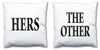 Word Cushions - set of Two - Love Maps On... - 9