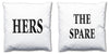 Word Cushions - set of Two - Love Maps On... - 10