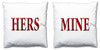 Word Cushions - set of Two - Love Maps On... - 59