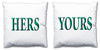 Word Cushions - set of Two - Love Maps On... - 43