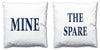 Word Cushions - set of Two - Love Maps On... - 30
