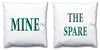 Word Cushions - set of Two - Love Maps On... - 45