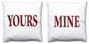 Word Cushions - set of Two - Love Maps On... - 66