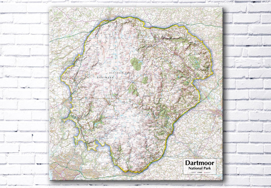 Dartmoor National Park - Map Poster