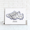 Personalised Football Stadium Map - Canvas Print Canvas Print- Love Maps On...