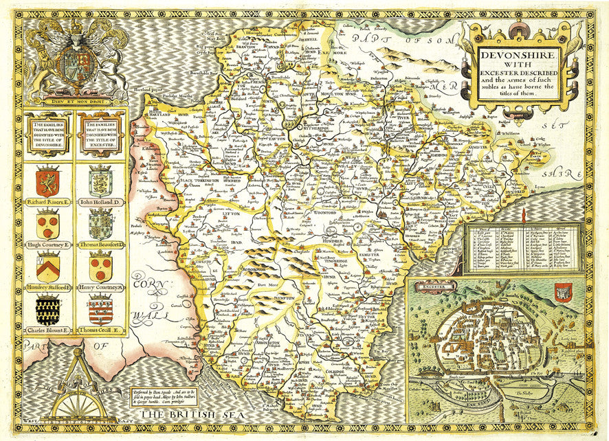 Map Of England In 1500.Map Canvas Vintage County Map Devon From Love Maps On