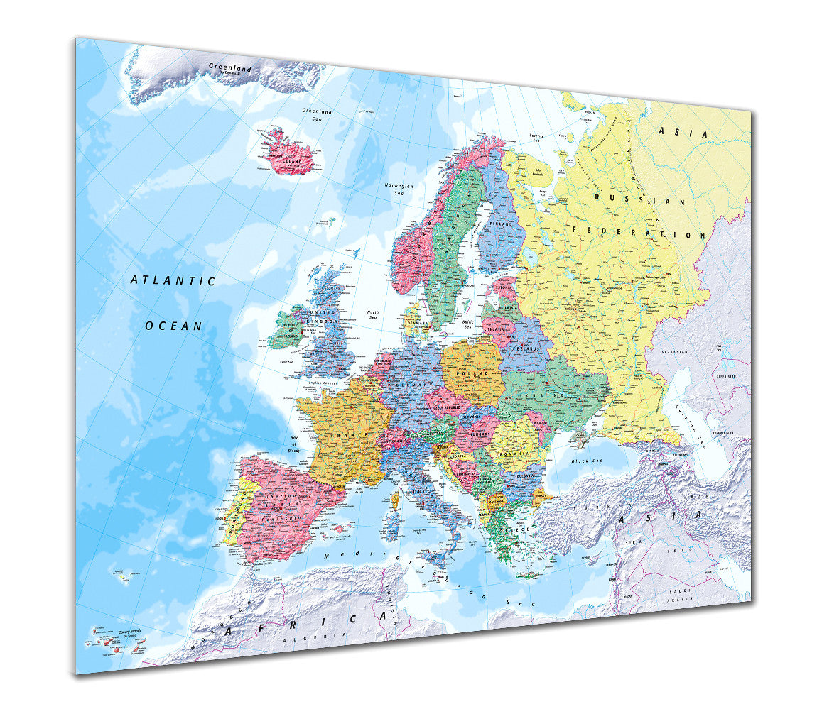 Map Poster Map Of Europe From Love Maps On