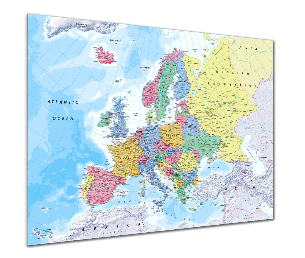 Map Poster - Map of Europe for Schools - Love Maps On... - 1