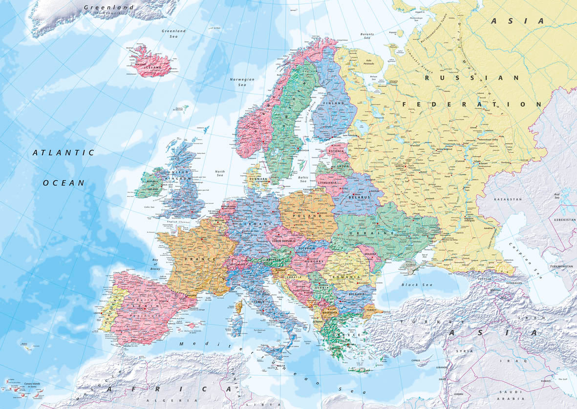 Map Wallpaper - Europe Political