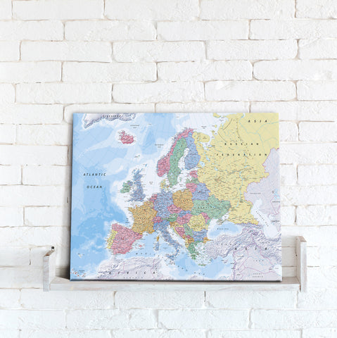Map Canvas - Europe Political Map