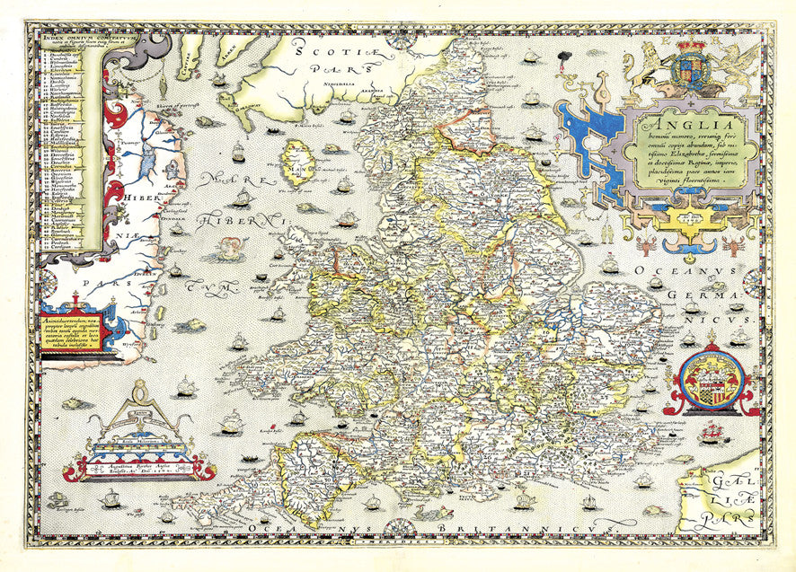 Map Canvas Vintage County Map England And Wales From Love Maps On - Pars map