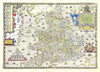 Map Wallpaper - Vintage County Map - England and Wales - Love Maps On... - 6