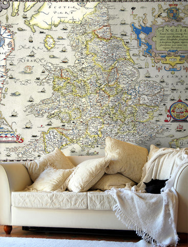 Map Wallpaper - Vintage County Map - England and Wales