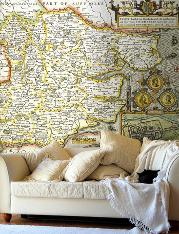 Map Wallpaper - Vintage County Map - Essex