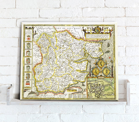 Map Canvas - Vintage County Map - Essex