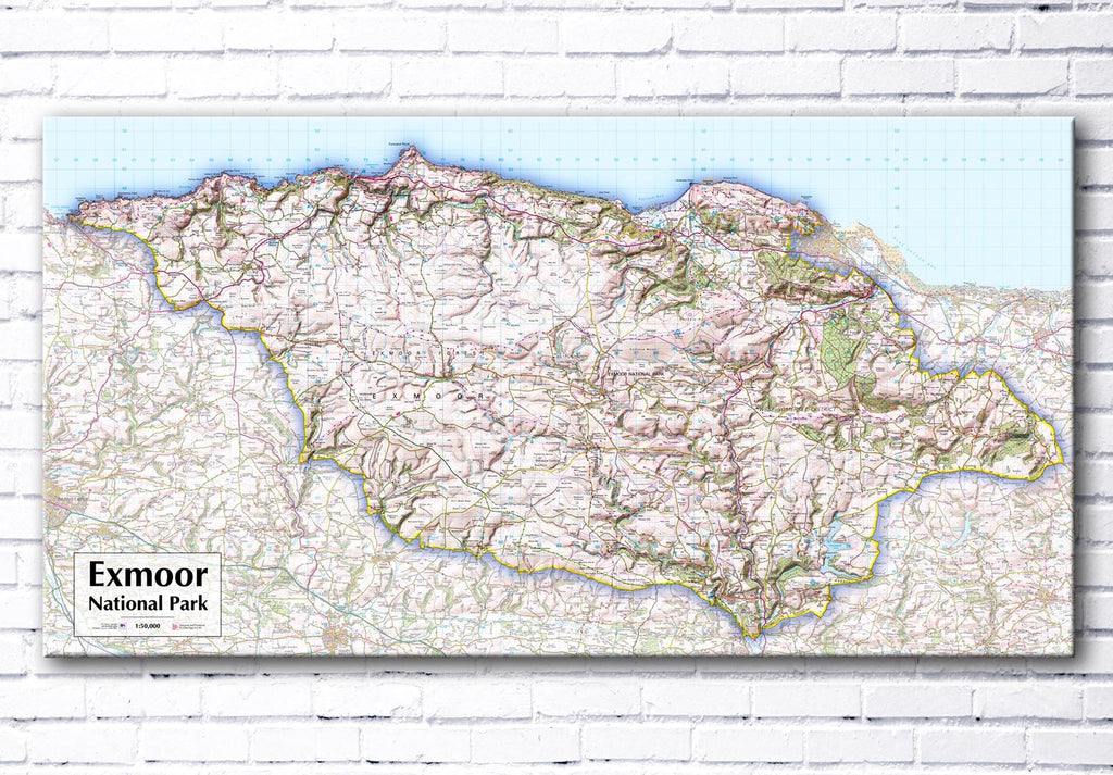 Exmoor National Park Map Canvas Print - love maps on...