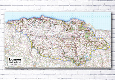 Exmoor National Park - Map Poster