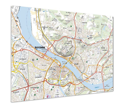 Map Poster - France 1:25,000 - postcode centred - Standard Style