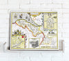 Map Canvas - Vintage County Map - Flintshire - Love Maps On...