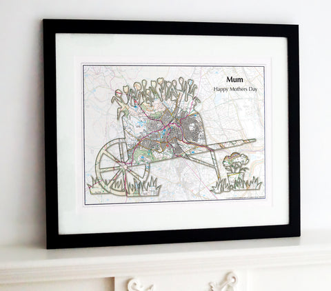 Framed Map - Personalised Gardening Map