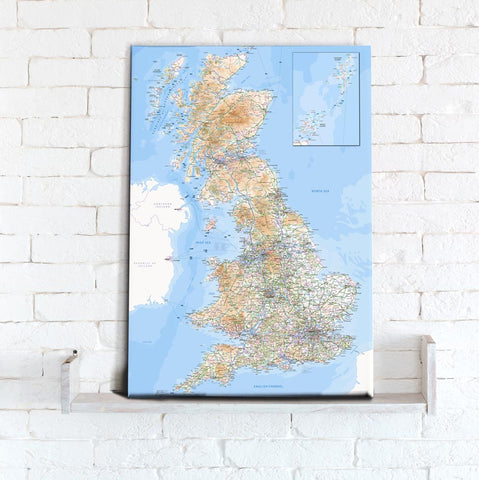 Map Canvas - Ordnance Survey GB Map