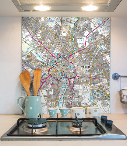 Glass Splashbacks - Custom Ordnance Survey Explorer Map