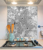 Glass Splashbacks - Custom Vintage Ordnance Survey Victorian Street Map - Love Maps On...