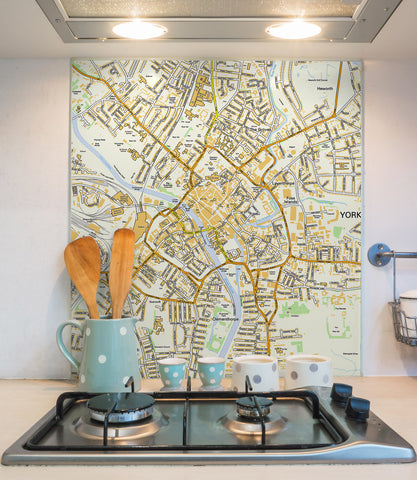 Glass Splashbacks - Custom Ordnance Survey Street Map