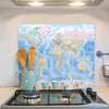 Glass Splashback - World Political Map
