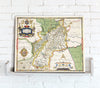 Map Canvas - Vintage County Map - Gloucestershire - Love Maps On... - 2