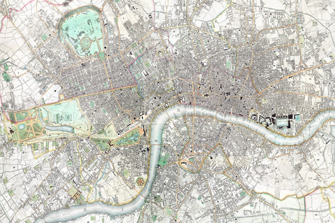Map Canvas - Greenwood Map of London, 1827