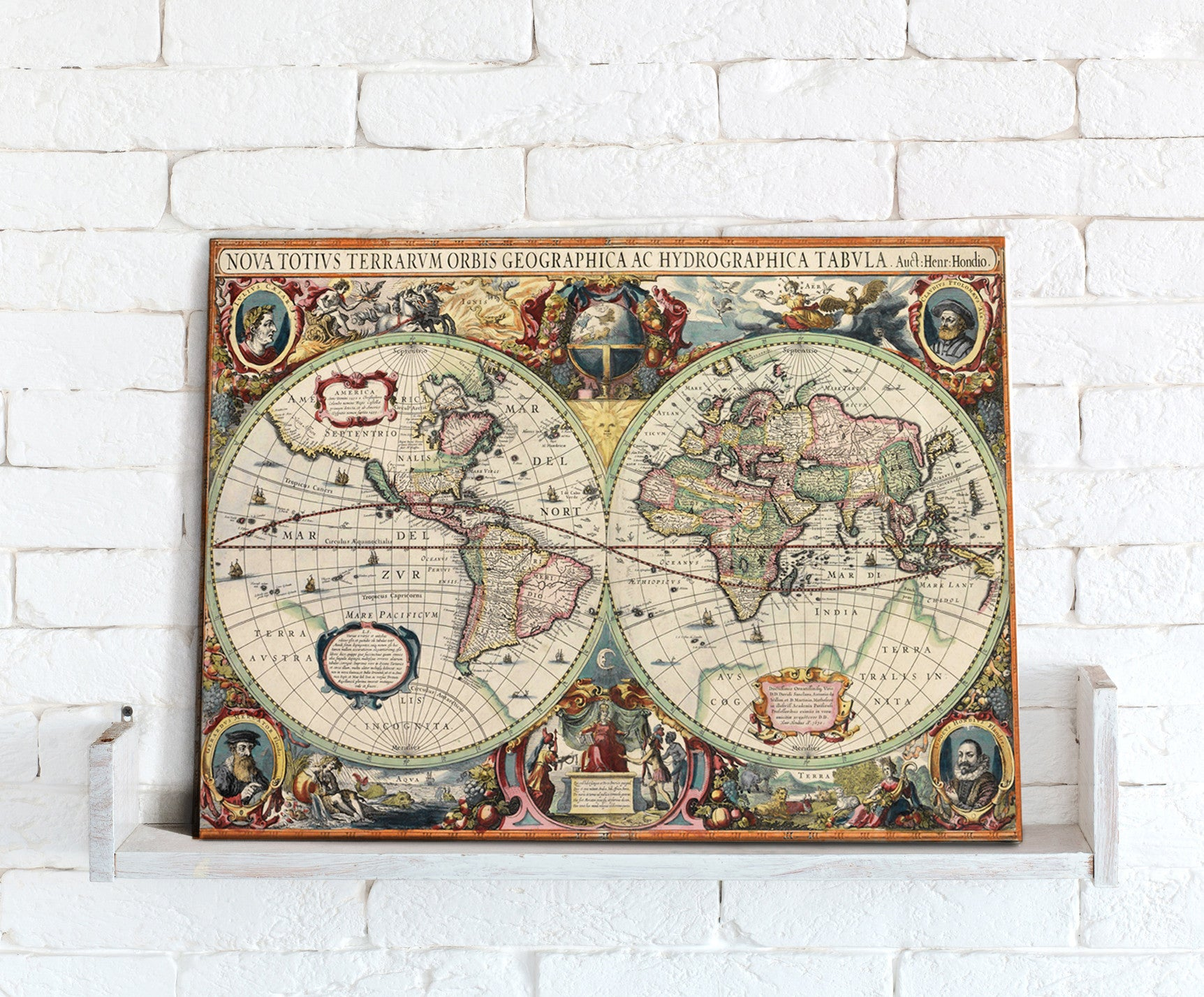 Map canvas hondius world map from love maps on map canvas hondius world map love maps on gumiabroncs Gallery
