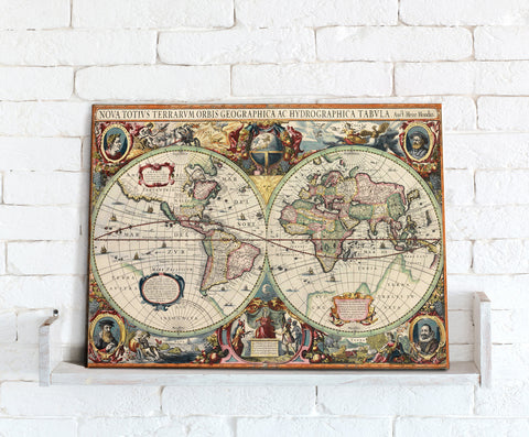Map Canvas - Hondius World Map
